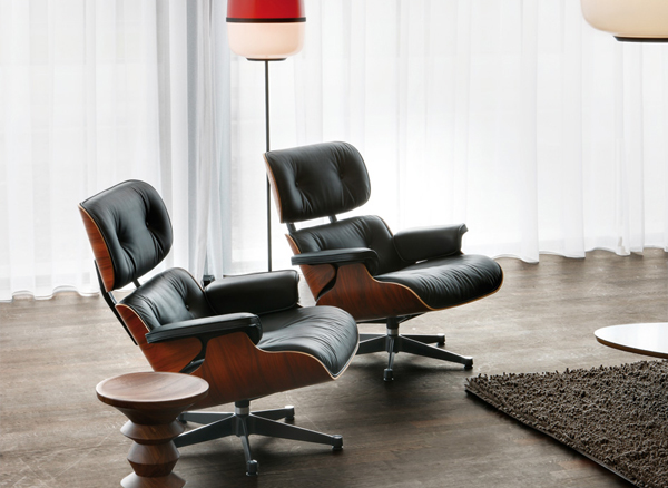 Eames Lounge Stoel : Vitra eames lounge chair ottoman brokx projectinrichting